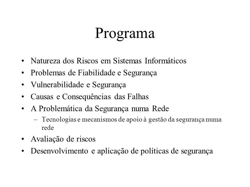 Programa Natureza dos Riscos em Sistemas Informáticos