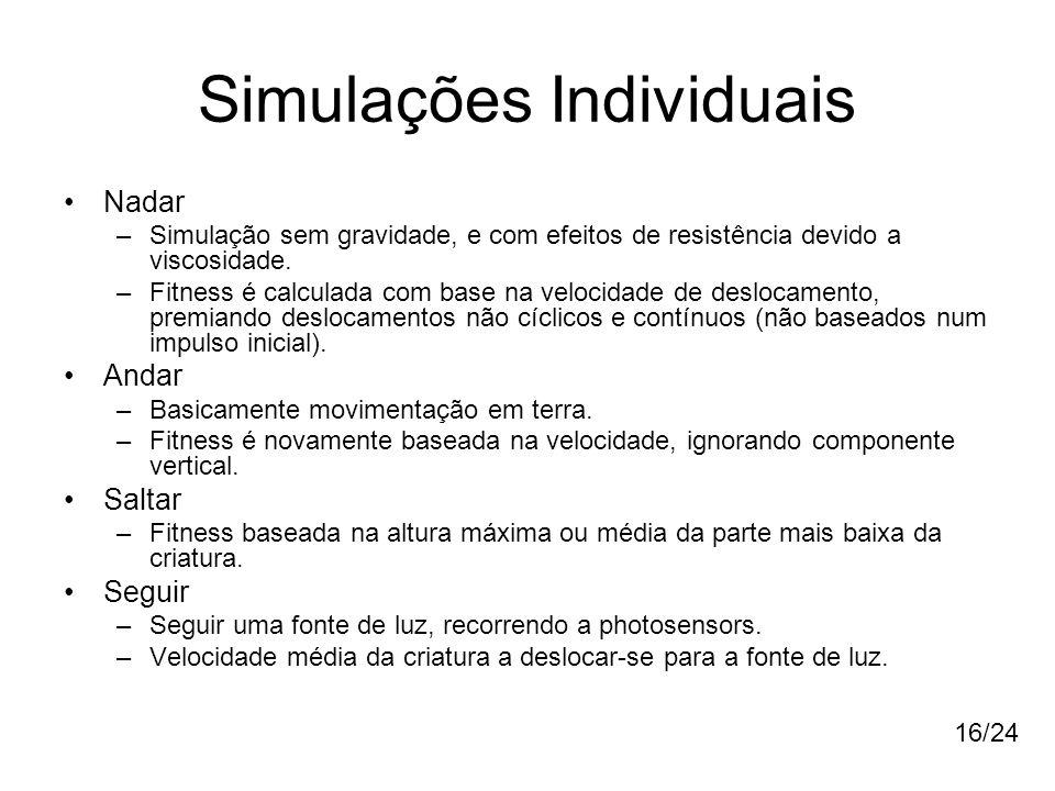 Simulações Individuais