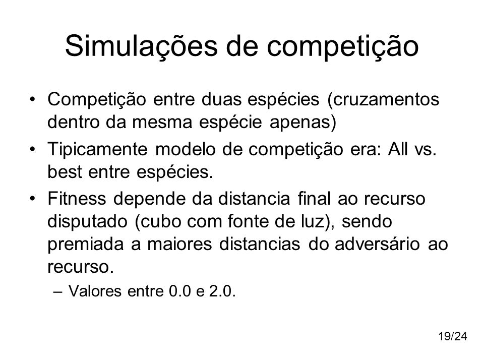 Simulações de competição