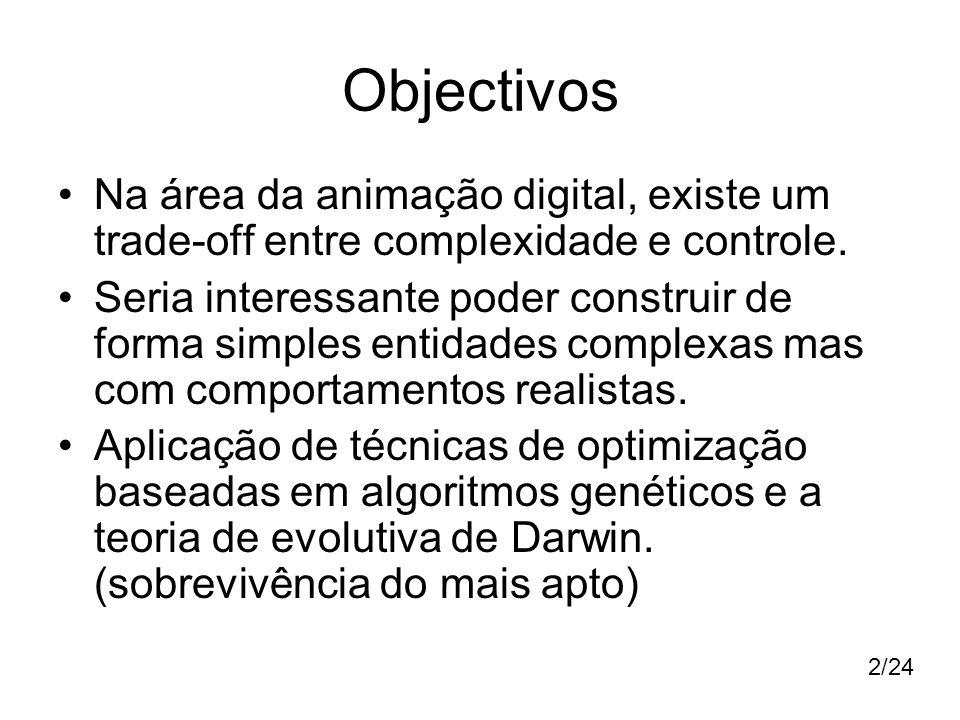 Objectivos Na área da animação digital, existe um trade-off entre complexidade e controle.