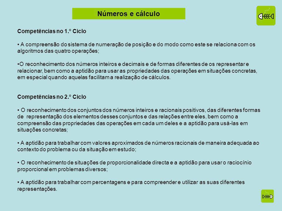 Números e cálculo Competências no 1.º Ciclo