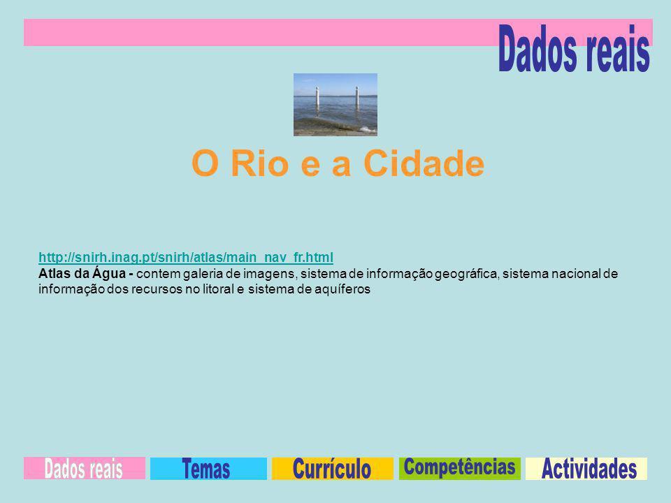 O Rio e a Cidade Dados reais Dados reais Temas Currículo Competências