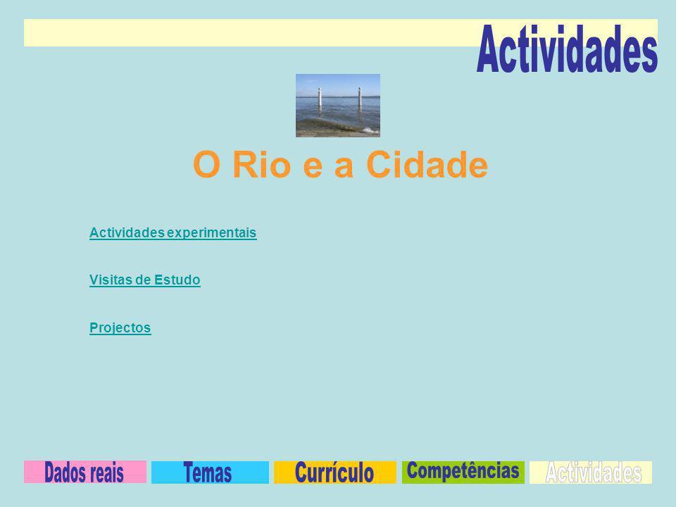 O Rio e a Cidade Actividades Dados reais Temas Currículo Competências