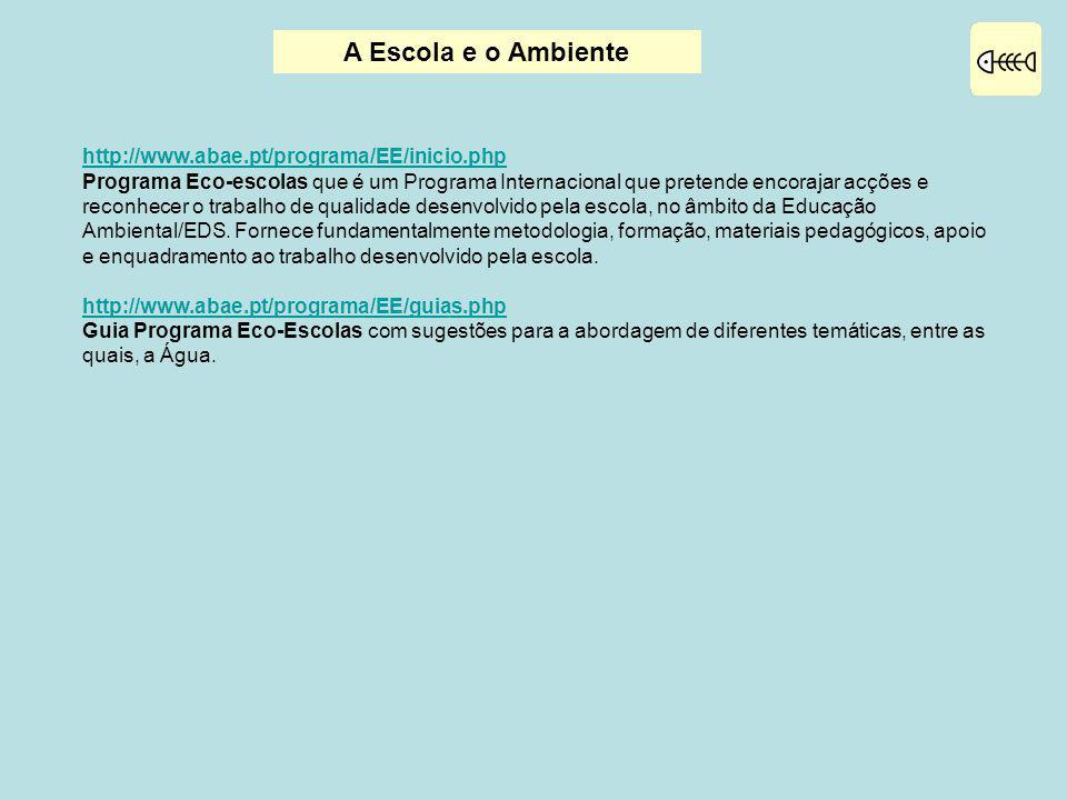 A Escola e o Ambiente http://www.abae.pt/programa/EE/inicio.php