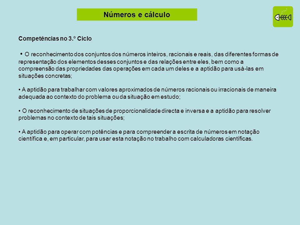 Números e cálculo Competências no 3.º Ciclo