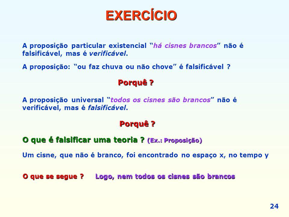 EXERCÍCIO Porquê Porquê
