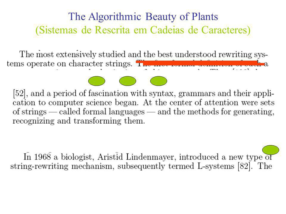 The Algorithmic Beauty of Plants (Sistemas de Rescrita em Cadeias de Caracteres)