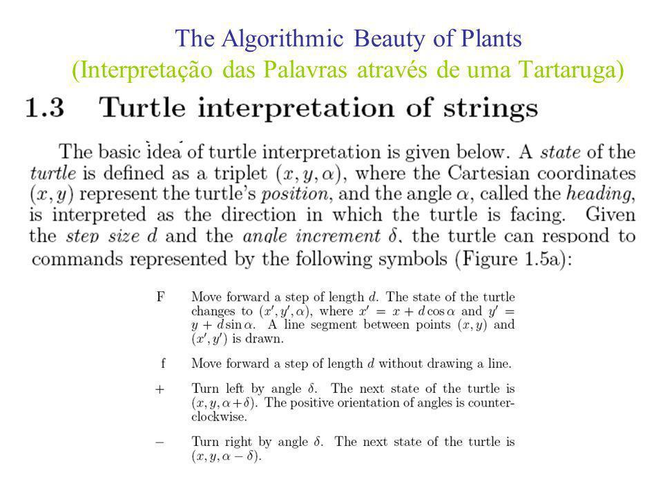 The Algorithmic Beauty of Plants (Interpretação das Palavras através de uma Tartaruga)