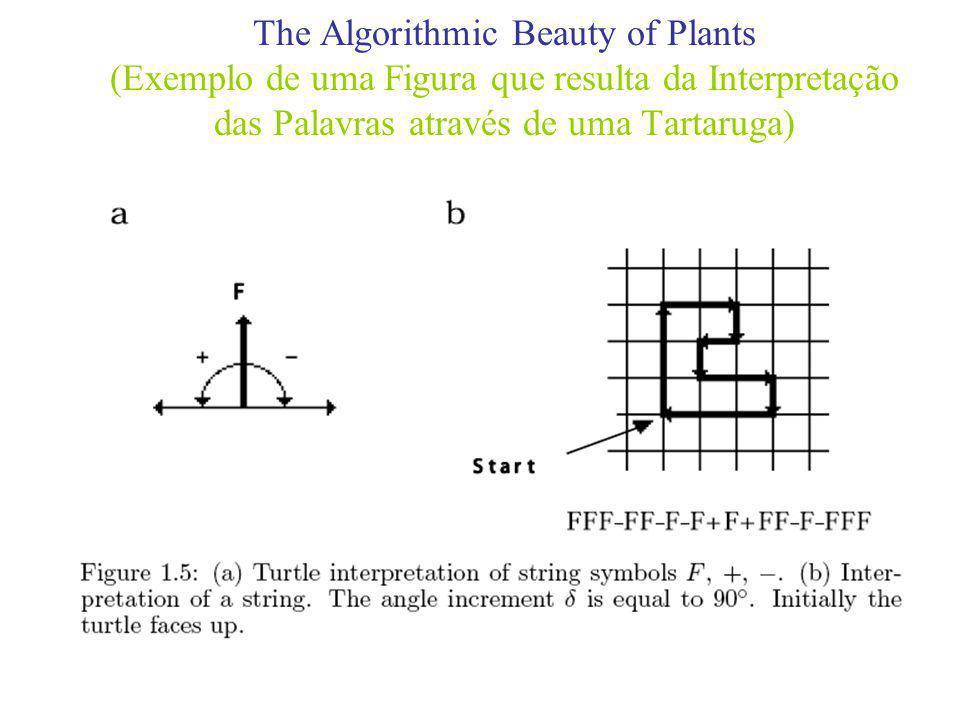 The Algorithmic Beauty of Plants (Exemplo de uma Figura que resulta da Interpretação das Palavras através de uma Tartaruga)