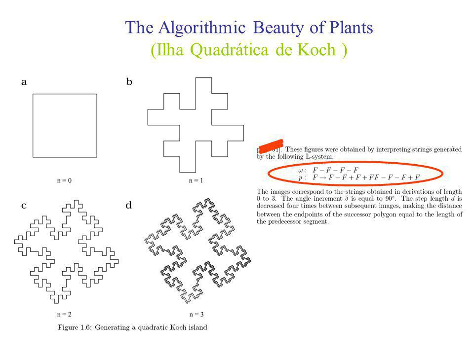 The Algorithmic Beauty of Plants (Ilha Quadrática de Koch )