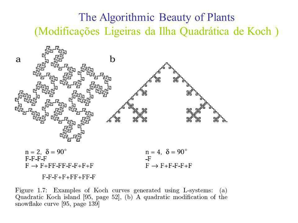 The Algorithmic Beauty of Plants (Modificações Ligeiras da Ilha Quadrática de Koch )