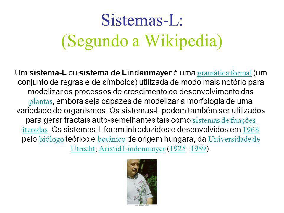 Sistemas-L: (Segundo a Wikipedia)
