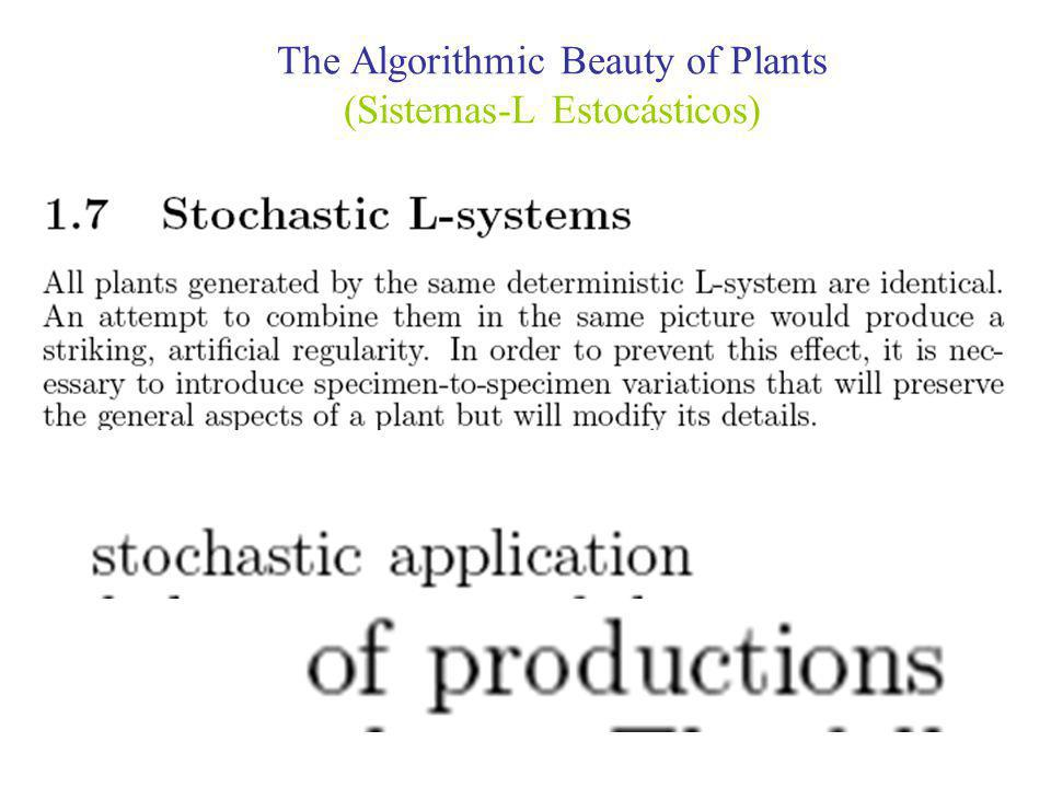The Algorithmic Beauty of Plants (Sistemas-L Estocásticos)