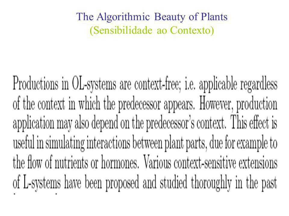 The Algorithmic Beauty of Plants (Sensibilidade ao Contexto)