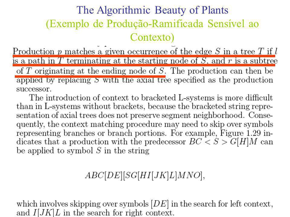 The Algorithmic Beauty of Plants (Exemplo de Produção-Ramificada Sensível ao Contexto)