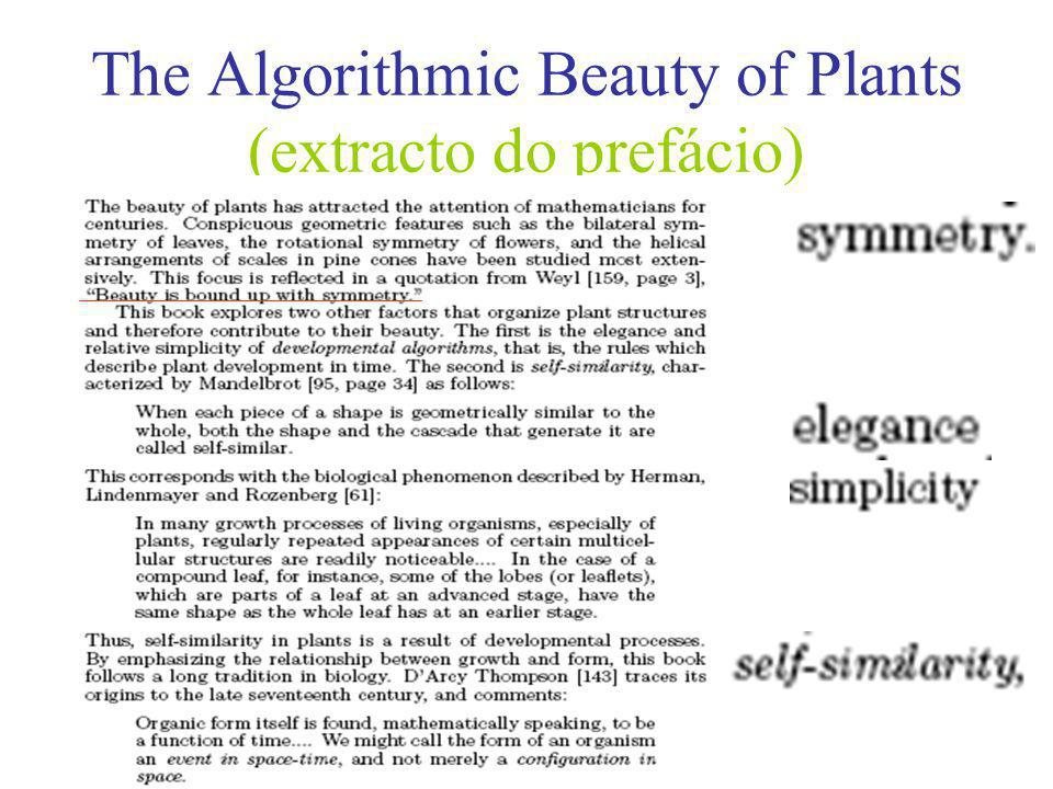 The Algorithmic Beauty of Plants (extracto do prefácio)
