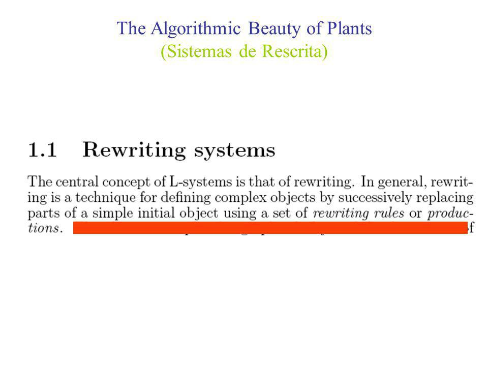 The Algorithmic Beauty of Plants (Sistemas de Rescrita)