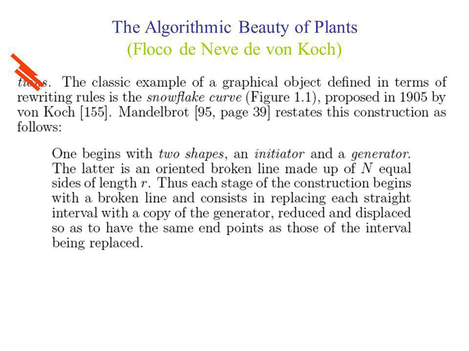 The Algorithmic Beauty of Plants (Floco de Neve de von Koch)