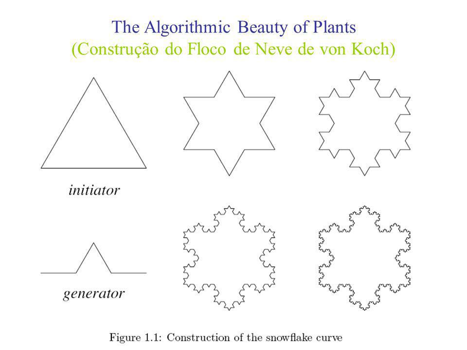 The Algorithmic Beauty of Plants (Construção do Floco de Neve de von Koch)