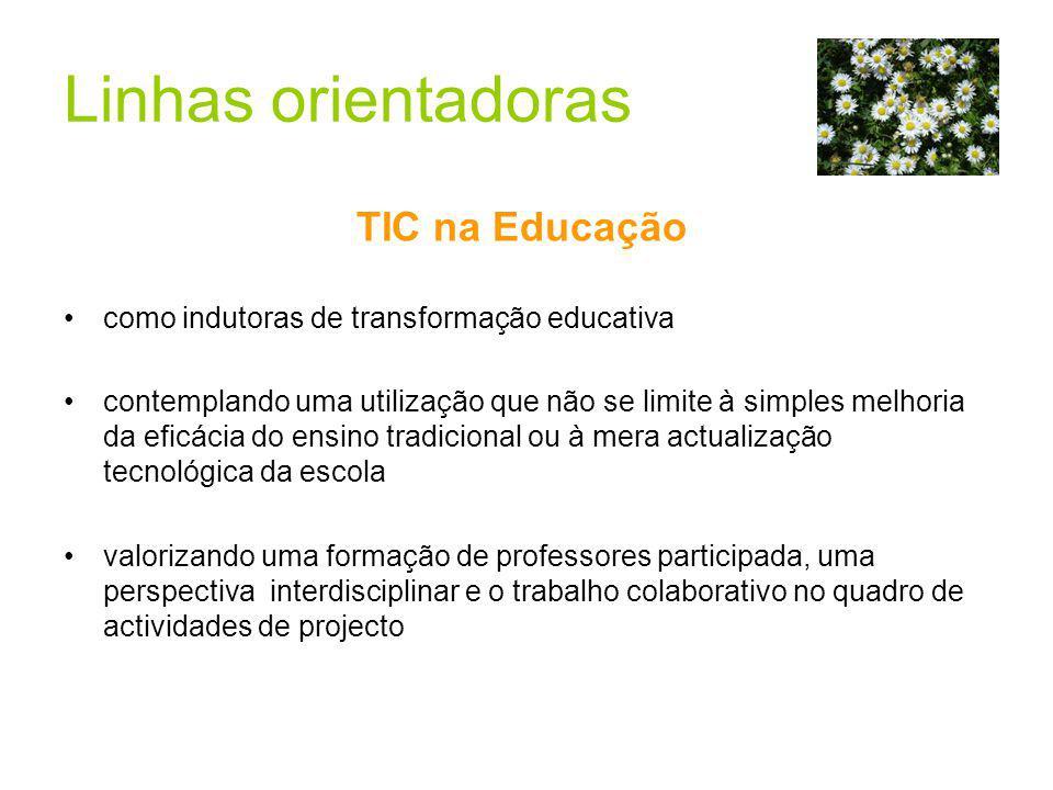 Linhas orientadoras TIC na Educação