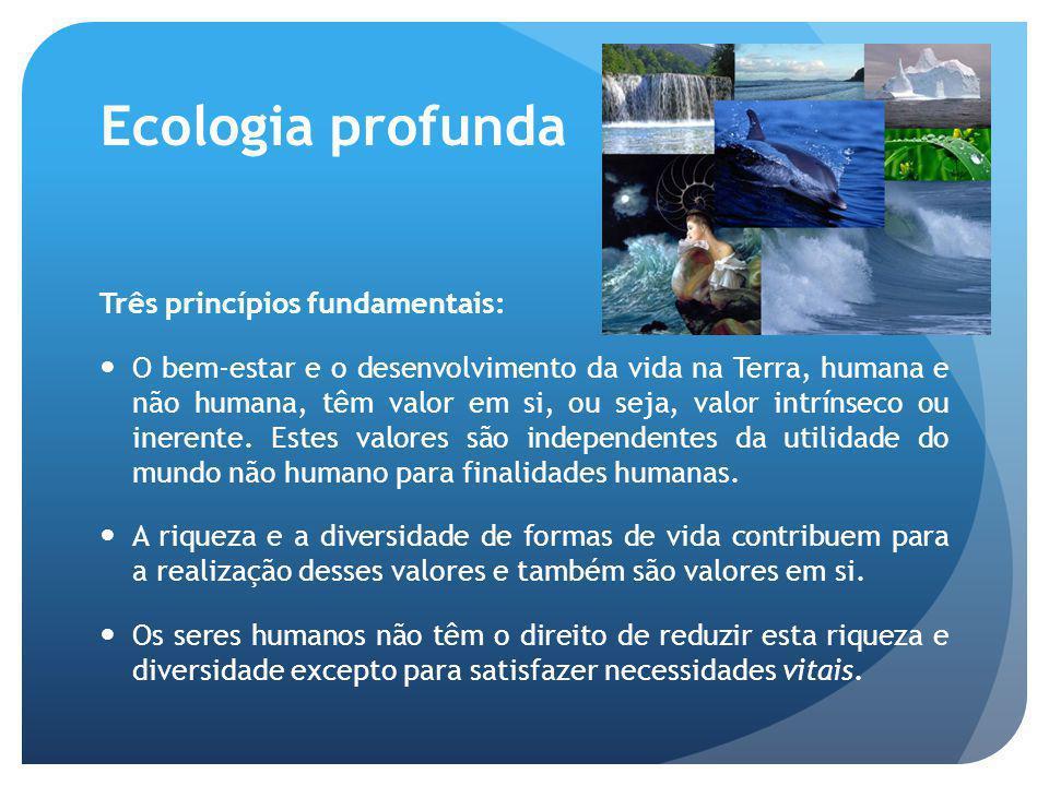 Ecologia profunda Três princípios fundamentais:
