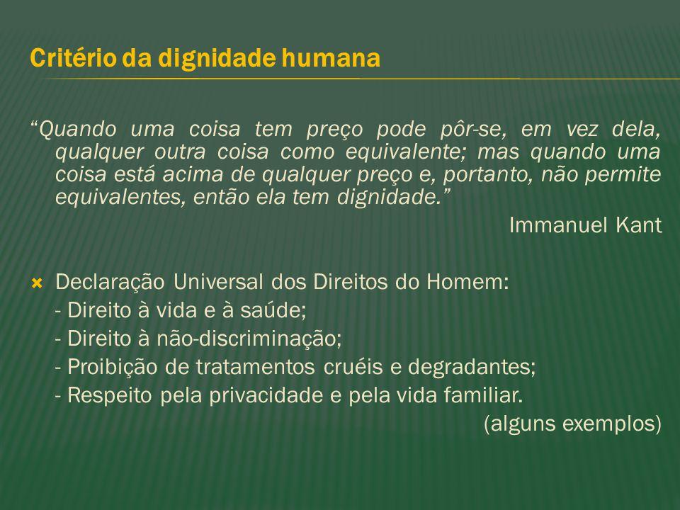 Critério da dignidade humana