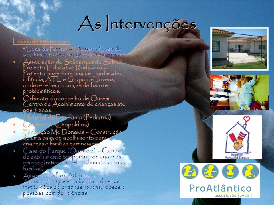 As Intervenções Locais de intervenção: