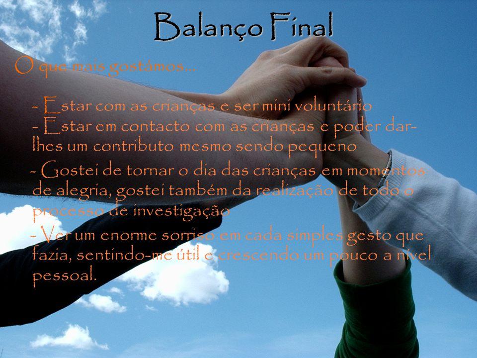 Balanço Final