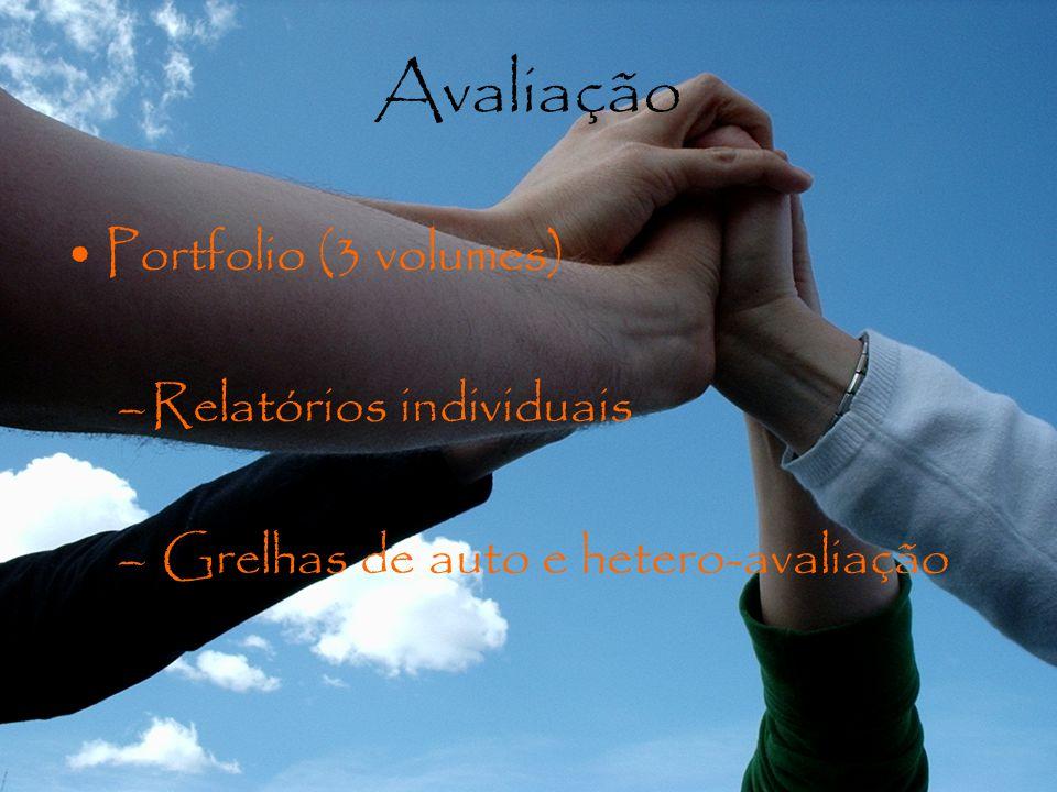 Avaliação Portfolio (3 volumes) Relatórios individuais