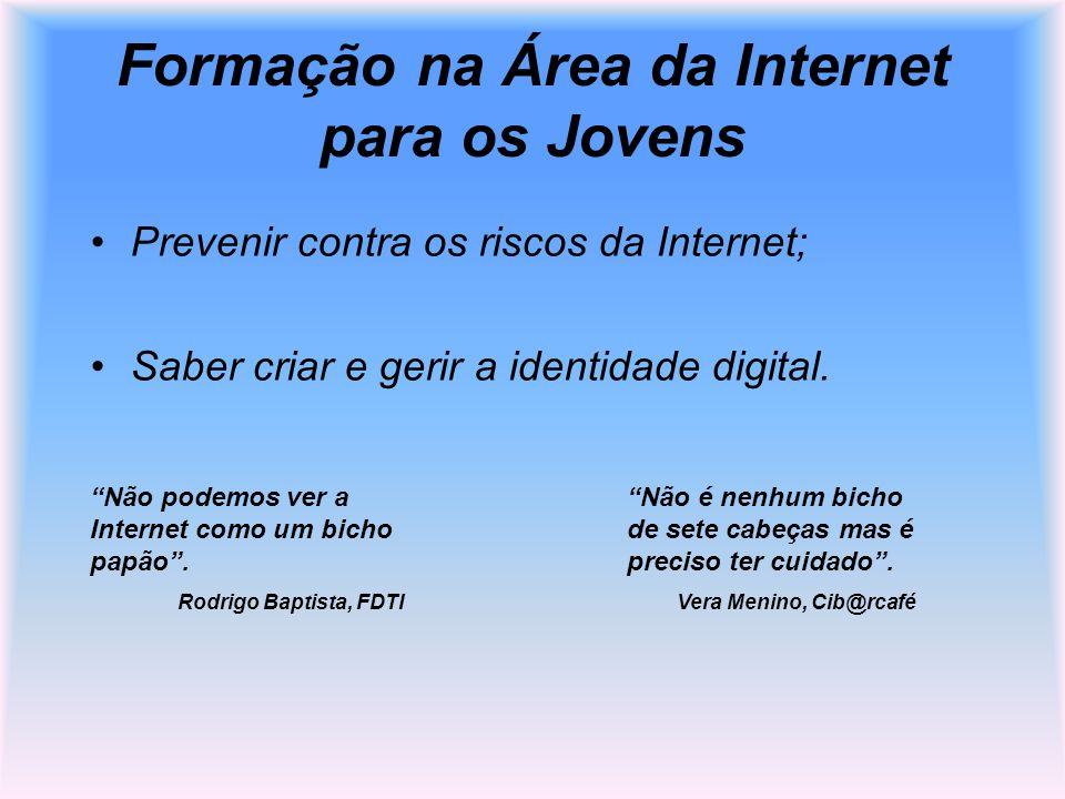 Formação na Área da Internet para os Jovens