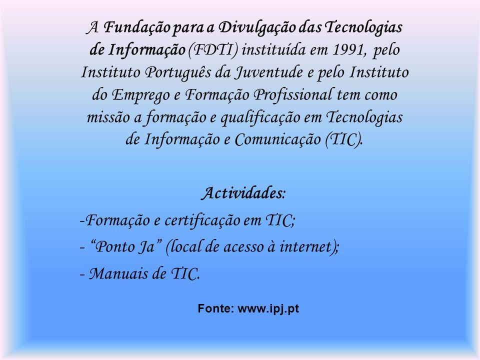Formação e certificação em TIC;