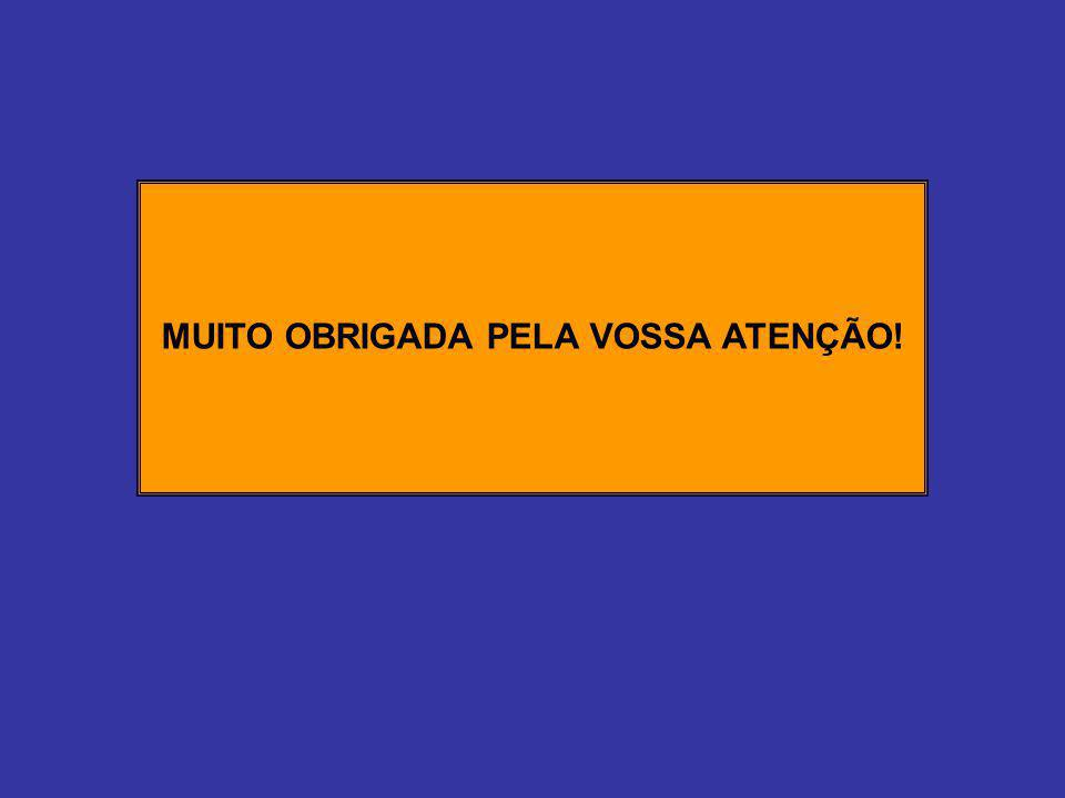 MUITO OBRIGADA PELA VOSSA ATENÇÃO!