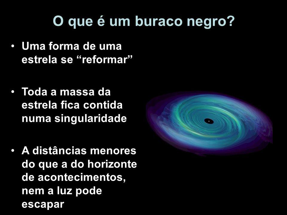 O que é um buraco negro Uma forma de uma estrela se reformar