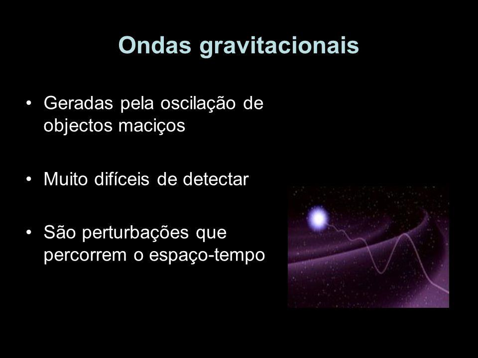 Ondas gravitacionais Geradas pela oscilação de objectos maciços