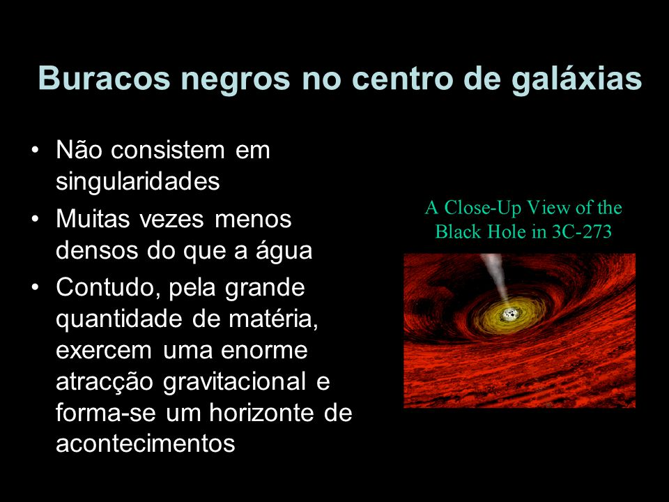 Buracos negros no centro de galáxias