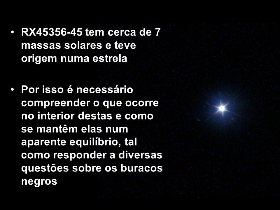 RX45356-45 tem cerca de 7 massas solares e teve origem numa estrela