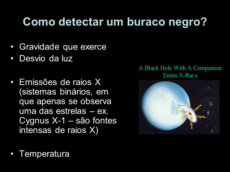 Como detectar um buraco negro