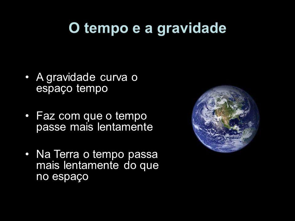 O tempo e a gravidade A gravidade curva o espaço tempo