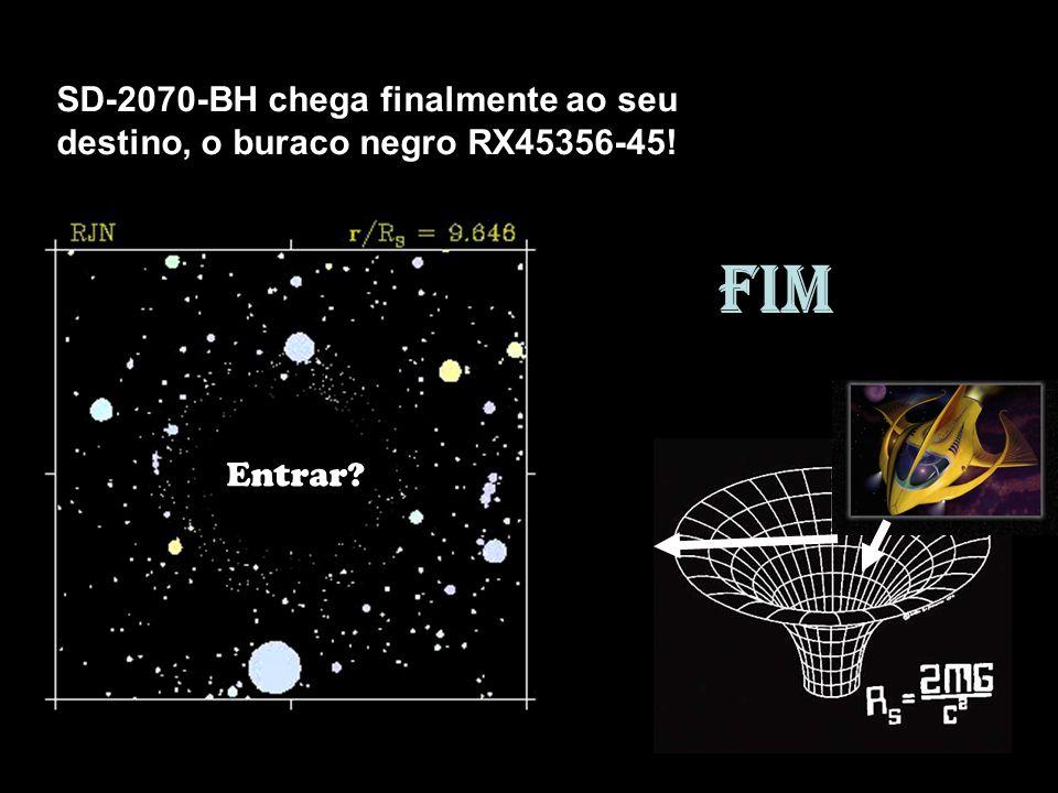 SD-2070-BH chega finalmente ao seu destino, o buraco negro RX45356-45!