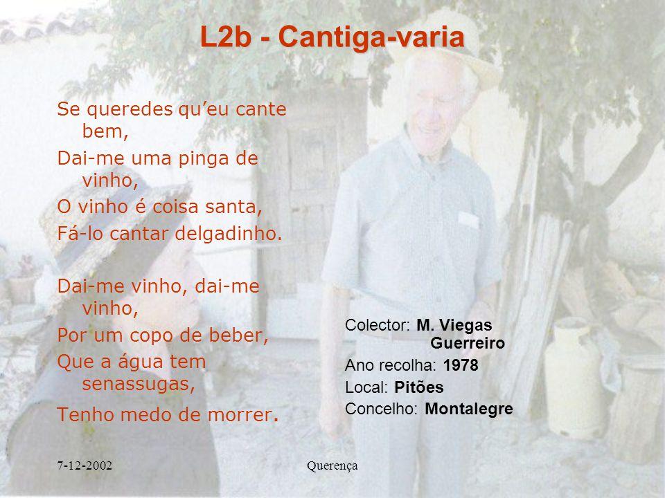 L2b - Cantiga-varia Se queredes qu'eu cante bem,