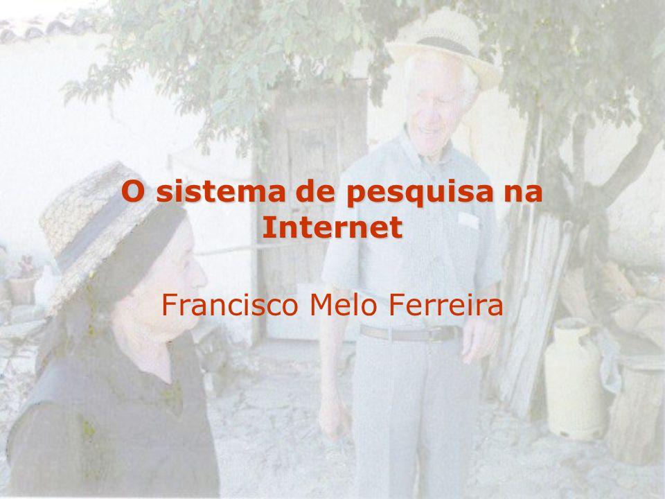 O sistema de pesquisa na Internet