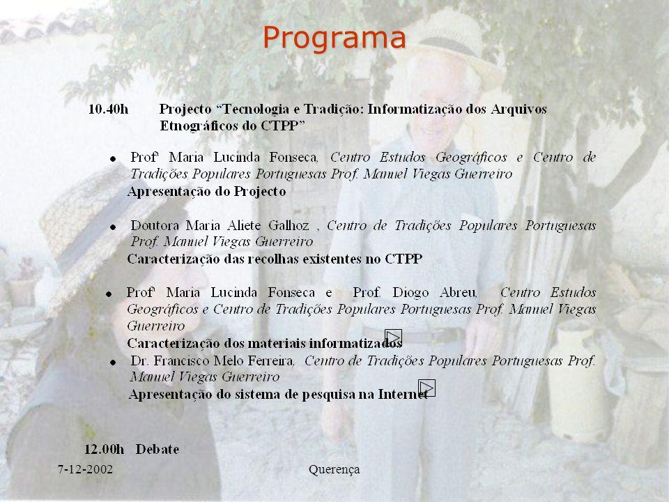 Programa 7-12-2002 Querença