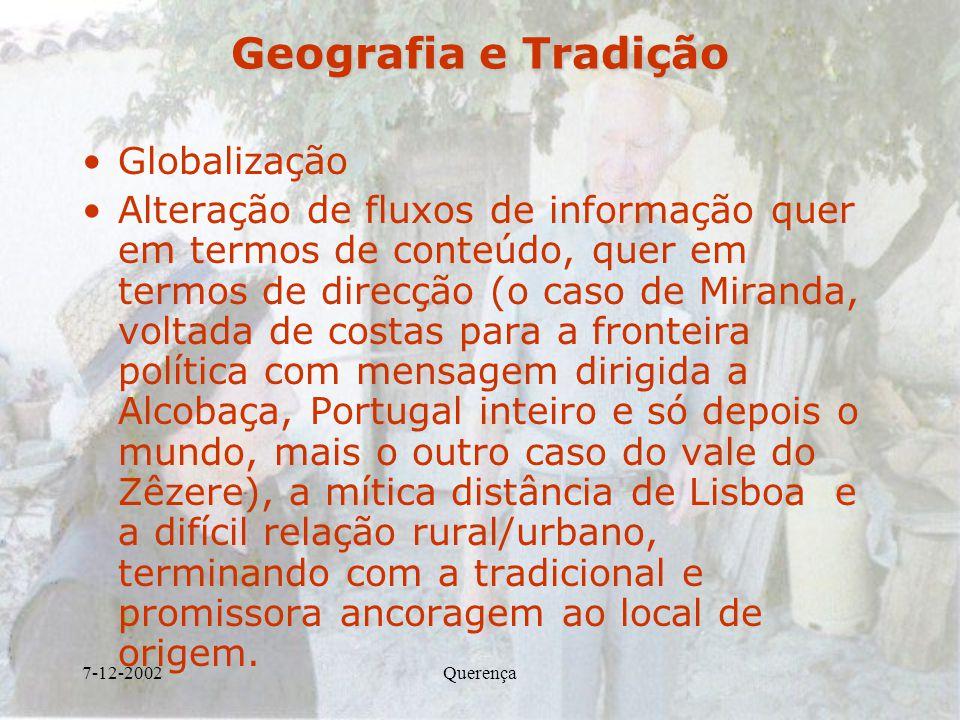 Geografia e Tradição Globalização