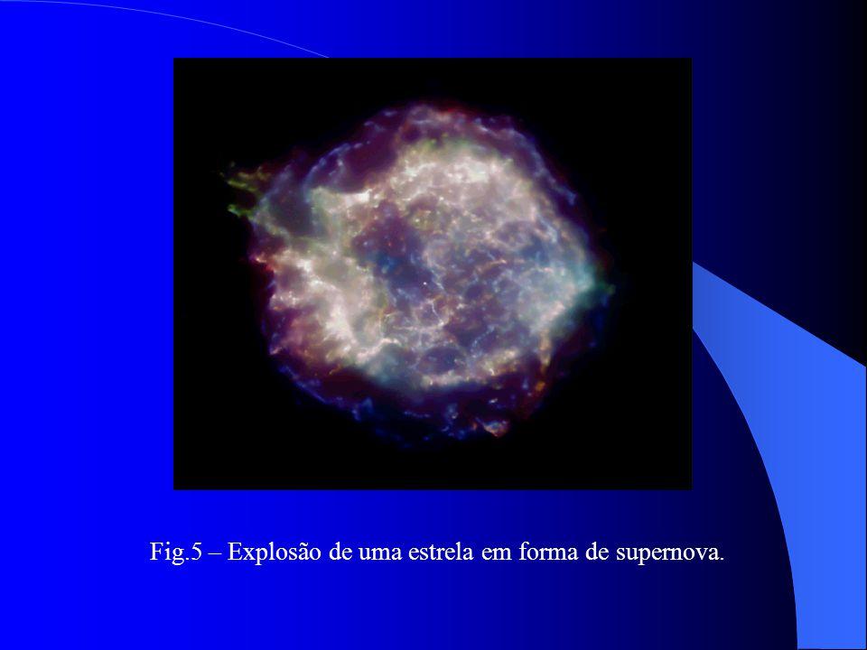 Fig.5 – Explosão de uma estrela em forma de supernova.