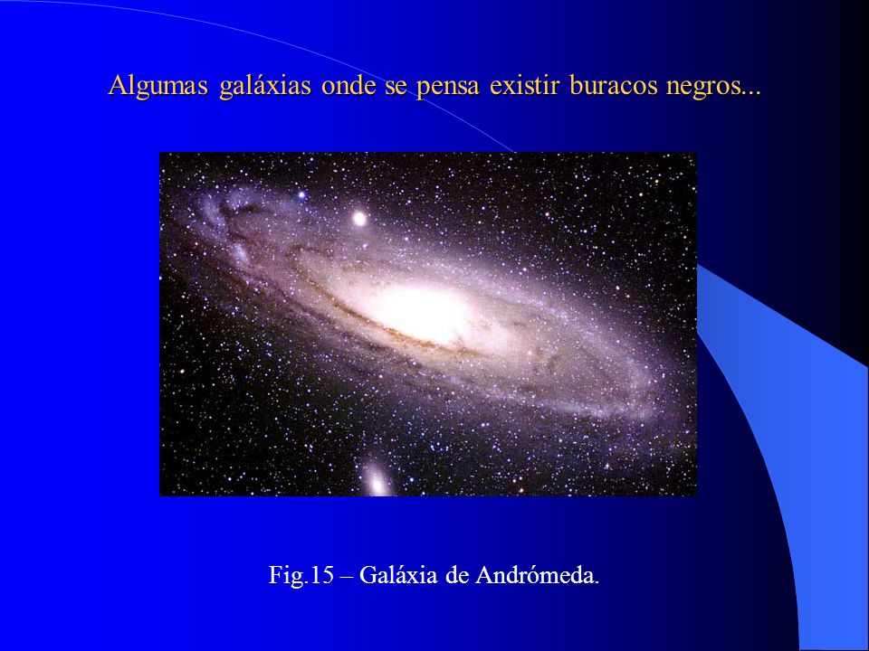 Algumas galáxias onde se pensa existir buracos negros...