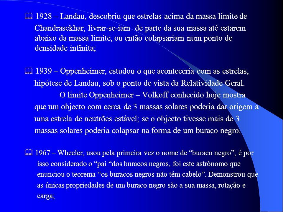 hipótese de Landau, sob o ponto de vista da Relatividade Geral.