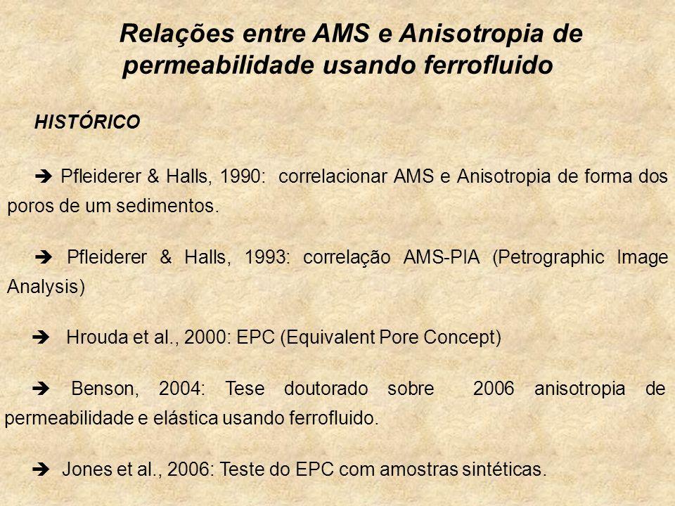 Relações entre AMS e Anisotropia de permeabilidade usando ferrofluido