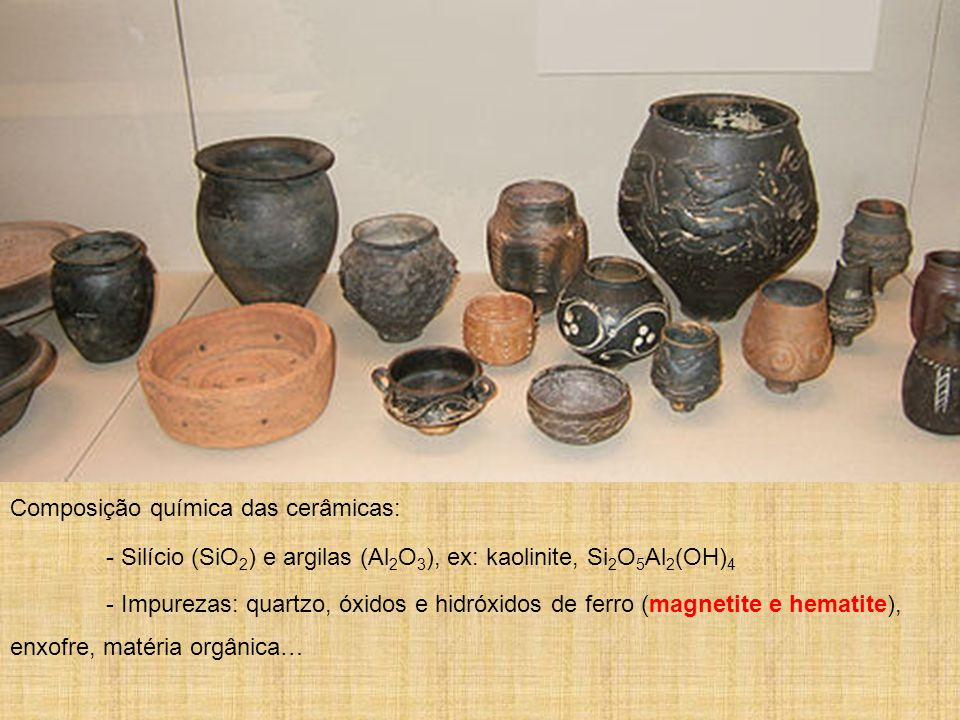 Composição química das cerâmicas:
