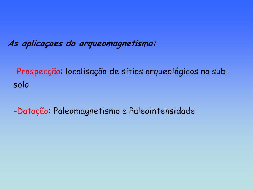 As aplicaçoes do arqueomagnetismo: