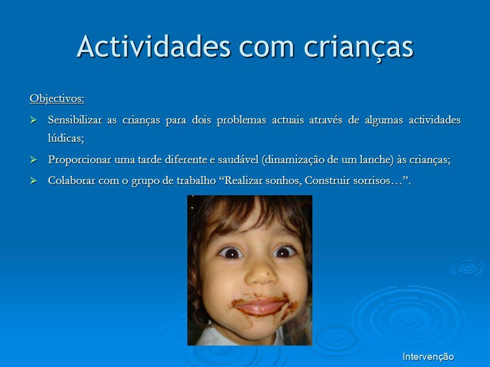 Actividades com crianças